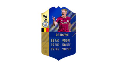 FIFA 18 Ultimate Team of the Season De Bruyne