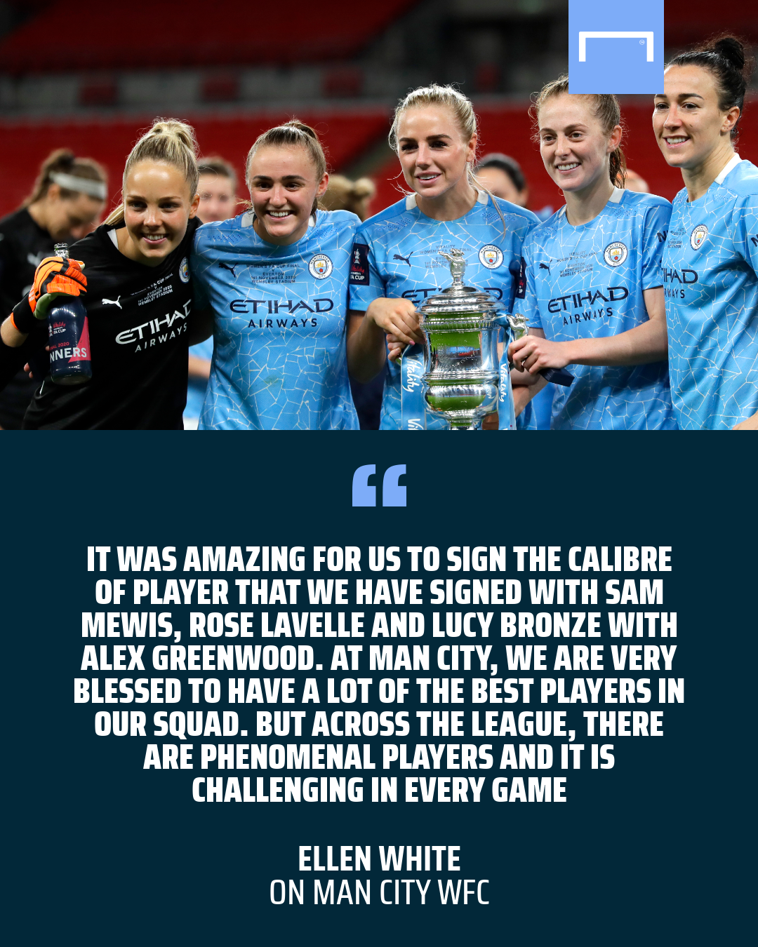 Ellen White: WSL rivalries between Man City, Chelsea, Arsenal & Man Utd are growing fierce