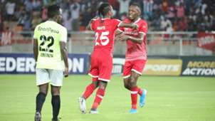 Francis Kahata and Meddie Kagere of Simba SC.