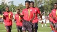 Allan Okello of Uganda vs Somalia in Cecafa.