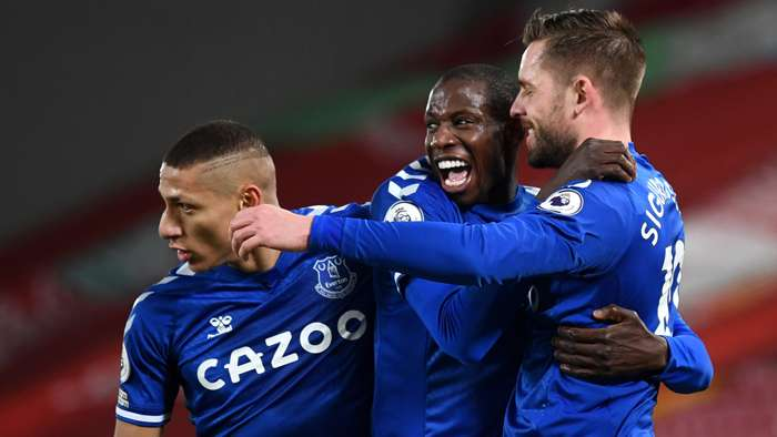 Richarlison Abdoulaye Doucoure Gylfi Sigurdsson Everton 2020-21