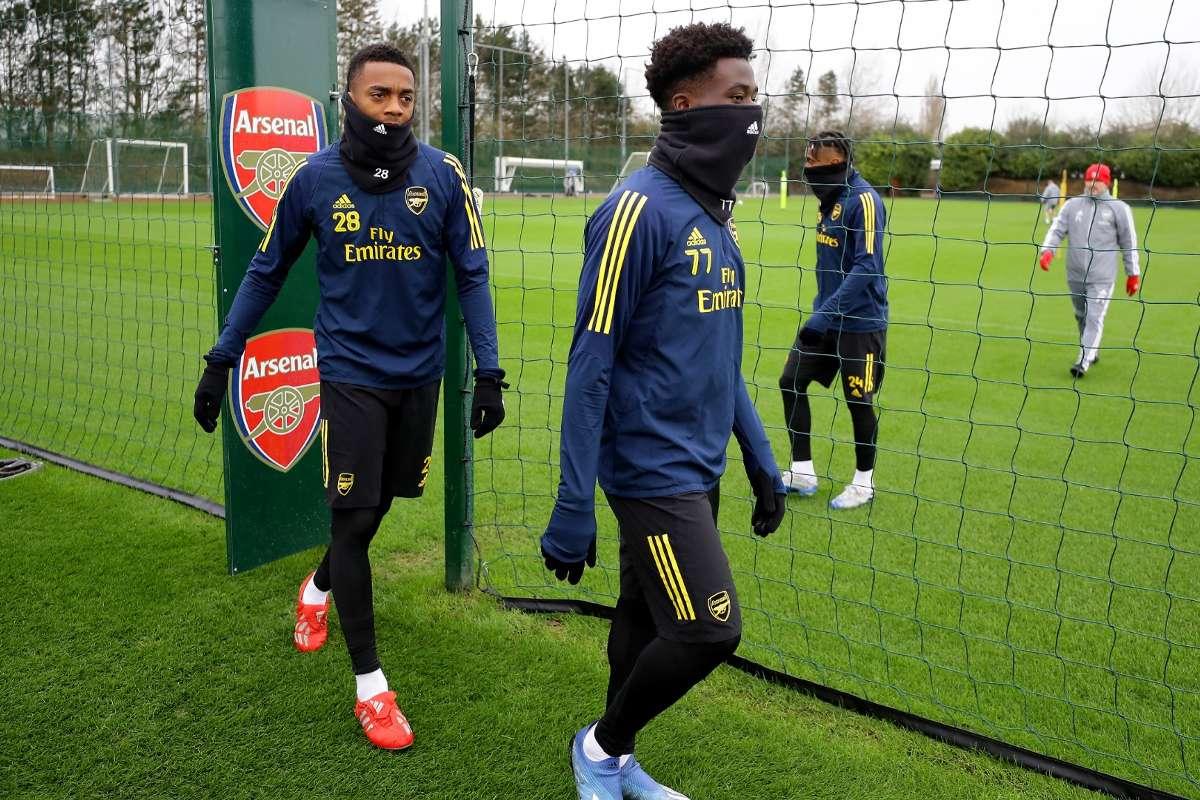 Bukayo Saka Joe Willock Arsenal