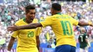 Roberto Firmino Neymar Brazil 2018