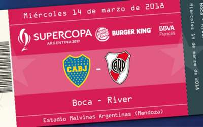 Entradas Supercopa Argentina 2018