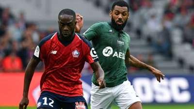 Yann Mvila Jonathan Ikoné Lille Saint-Etienne Ligue 1 06102018