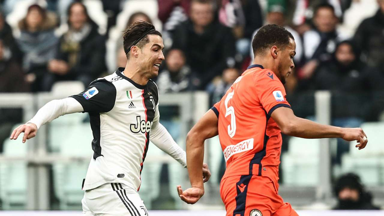 William Troost-Ekong and Cristiano Ronaldo - Udinese vs Juventus