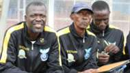 Kisumu All-Stars ssistant coach Francis Oduor and coach Henry Omino.