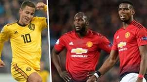 Eden Hazard Romelu Lukaku Paul Pogba Split