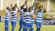 AFC Leopards players celebrate v Muhoroni.