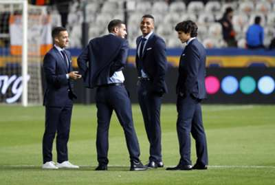 Moha (second from right) Real Madrid