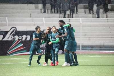 فرحة لاعبو الأهلي جدة بهدف عبد الرحمن غريب