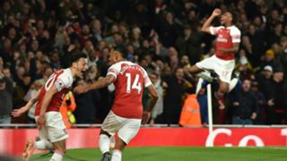 Mesut Ozil, Pierre-Emerick Aubameyang, Alex Iwobi - Arsenal vs. Leicester City