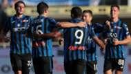 Atalanta celebrates goal against Udinese