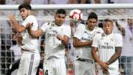 Marco Asensio Casemiro Raphael Varane Real Madrid La Liga 2018