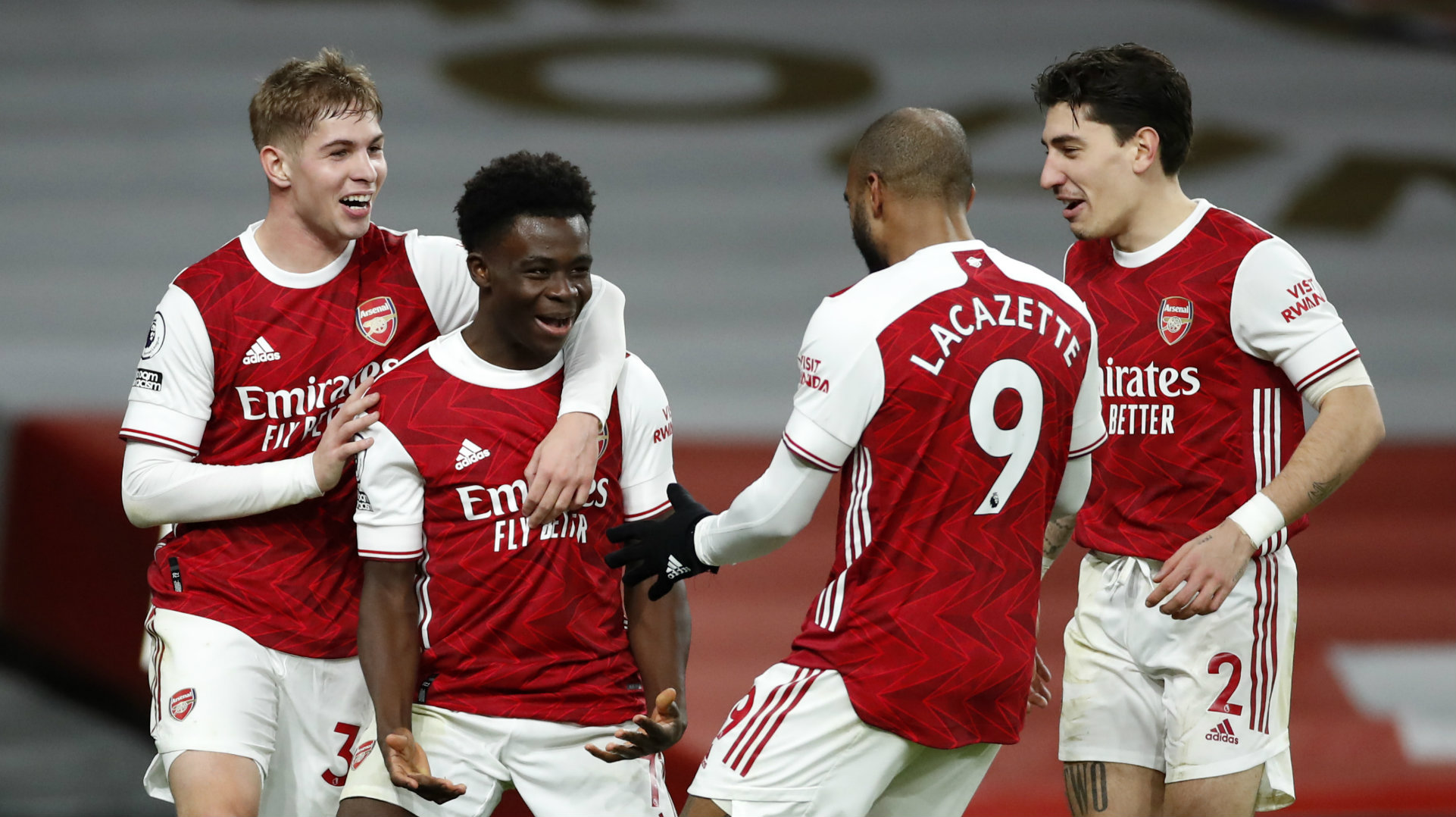 'Saka has the potential to be a world-class player' – Lauren lauds Arsenal youngster