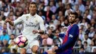 Cristiano Ronaldo Gerard Pique Real Madrid Barcelona LaLiga 23042017