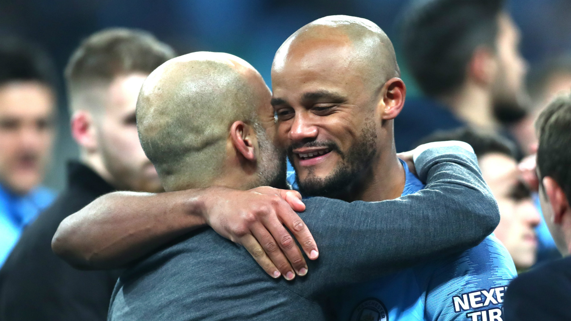 Pep Guardiola Vincent Kompany Manchester City 2018-19