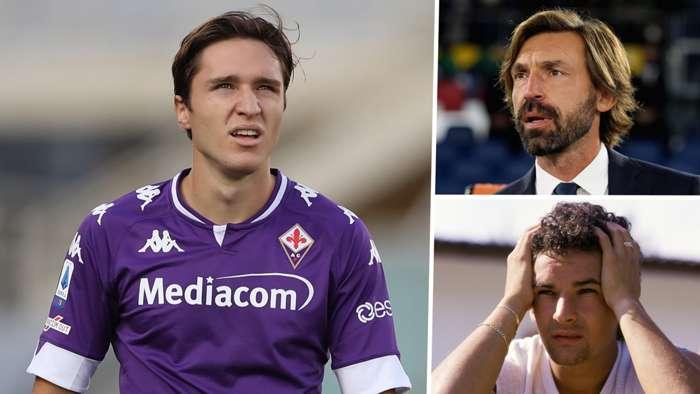 Federico Chiesa Andrea Pirlo Roberto Baggio Fiorentina Juventus GFX