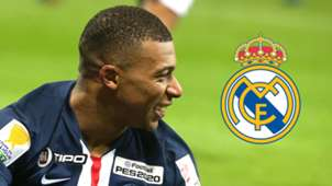 Kylian Mbappe, Real Madrid logo