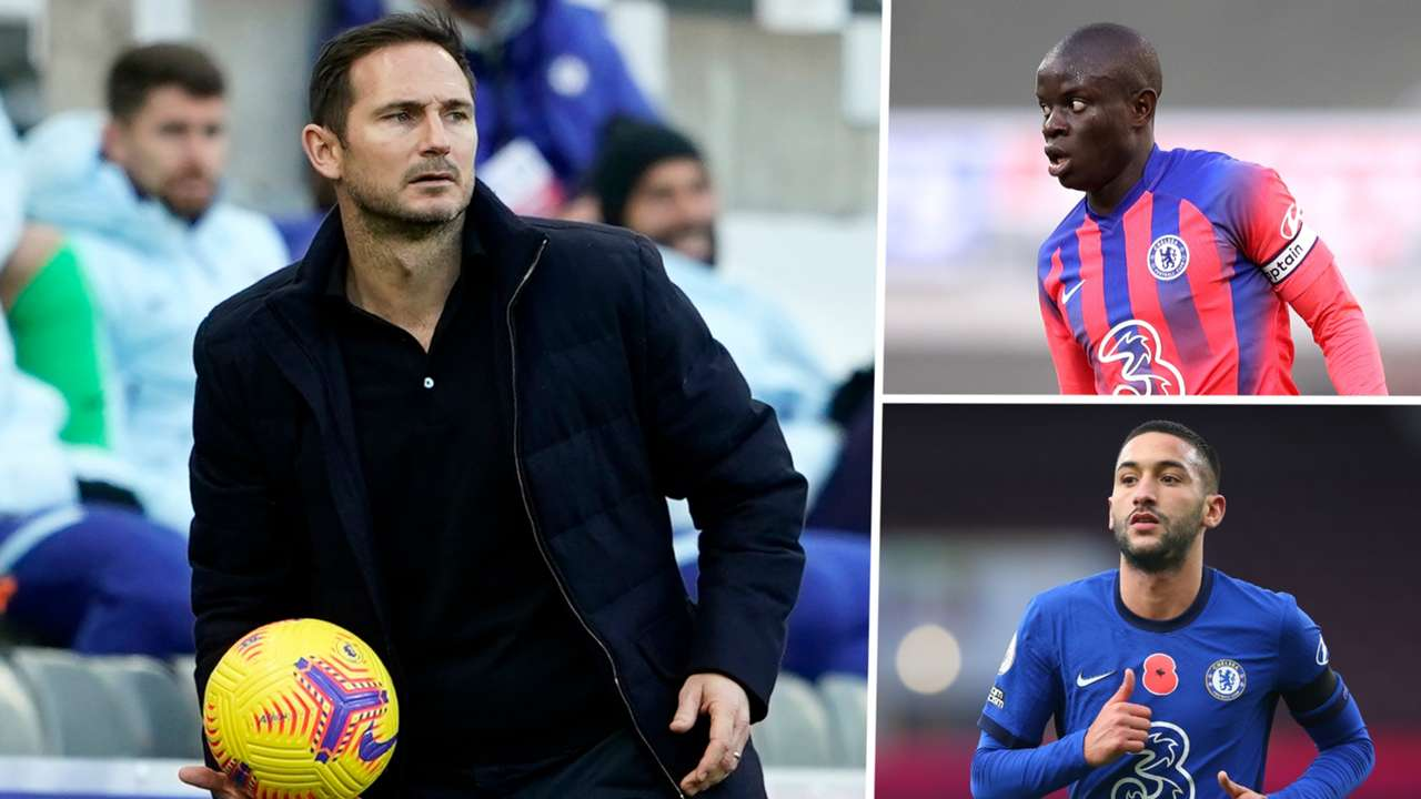 Frank Lampard Hakim Ziyech N'Golo Kante Chelsea GFX