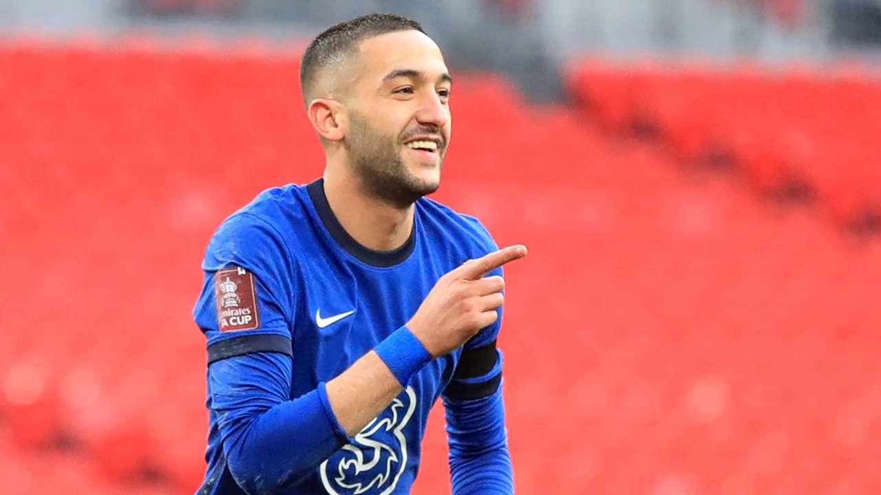 Hakim Ziyech Chelsea Manchester City FA Cup 2020-21