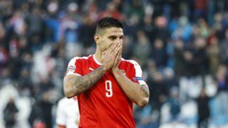 Mitrovic Serbia Nations League Montenegro