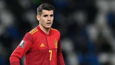 Alvaro Morata Georgia vs Spain 2022 World Cup qualifier