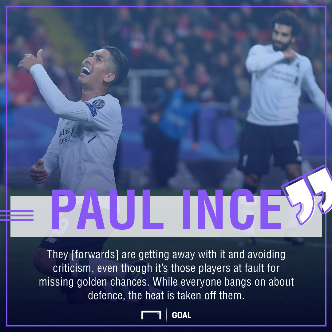 Paul Ince Liverpool forwards blame