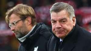 Sam Allardyce Everton Jurgen Klopp Liverpool