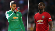 De Gea Pogba Man United split