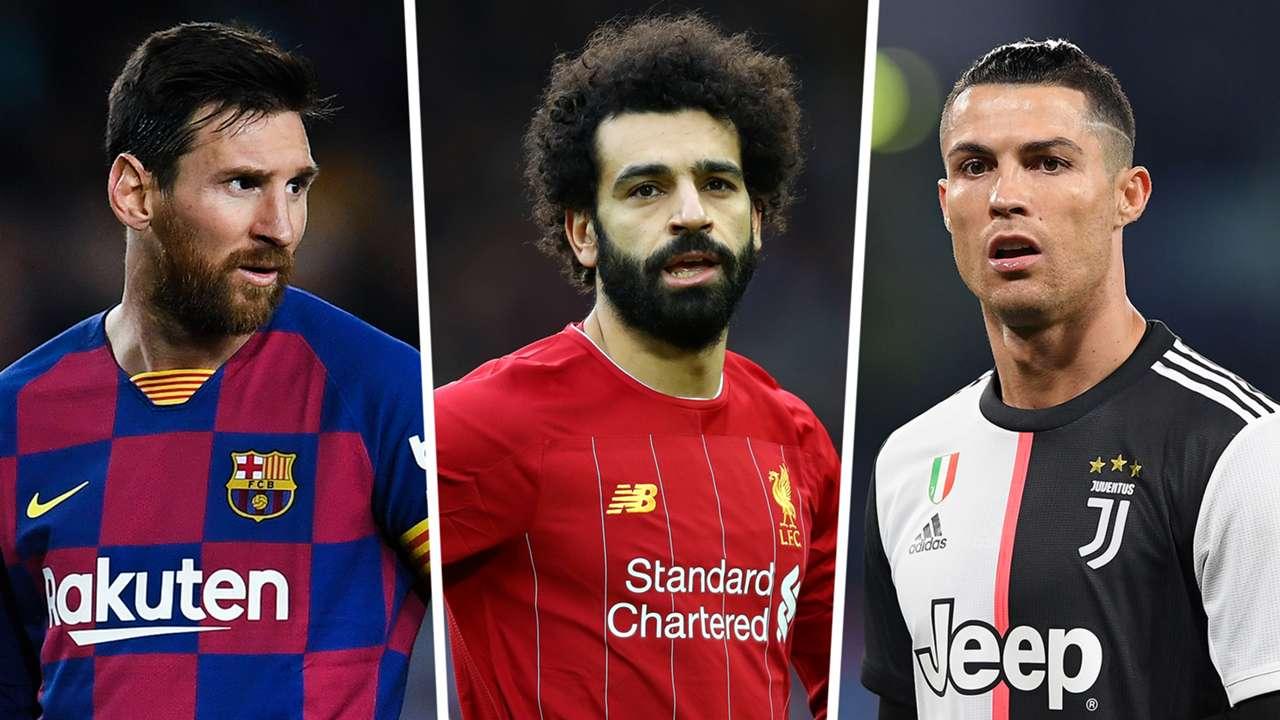 Messi Salah Ronaldo Barcelona Liverpool Juventus