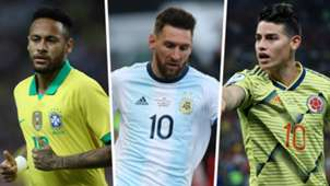 Neymar Lionel Messi James Rodriguez