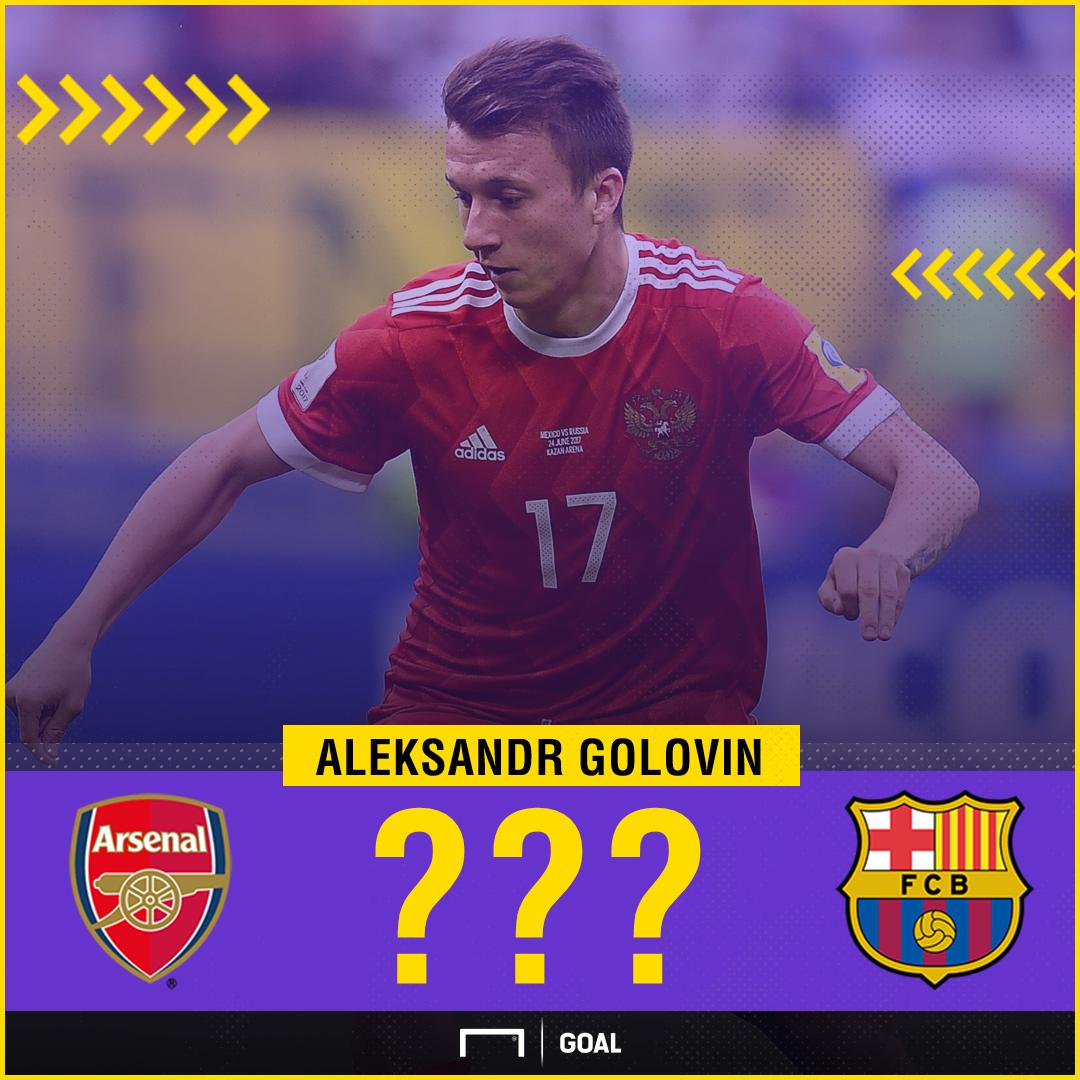 Aleksandr Golovin Arsenal Barcelona links