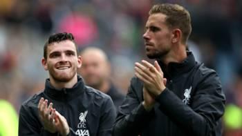 Andrew Robertson Jordan Henderson Liverpool 2019-20