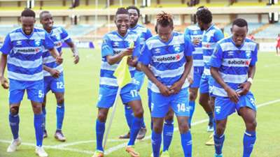 Peter Thiongo of AFC Leopards vs Ulinzi Stars.