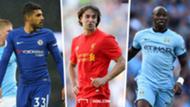 Lazar Markovic Liverpool Emerson Palmieri Chelsea Eliaquim Mangala Manchester City