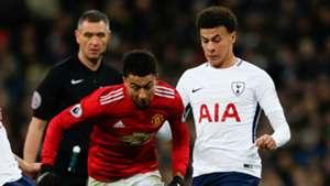 Jesse Lingard Dele Alli Manchester United Tottenham