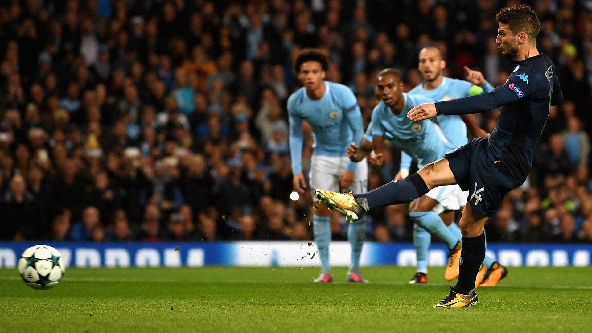 Dries Mertens Manchester City Napoli Champions League