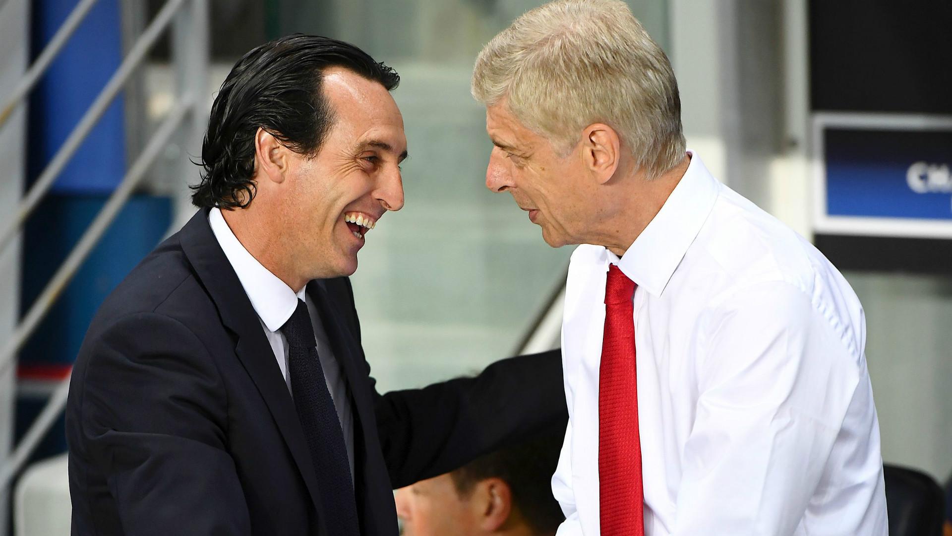 Unai Emery Arsene Wenger PSG Arsenal