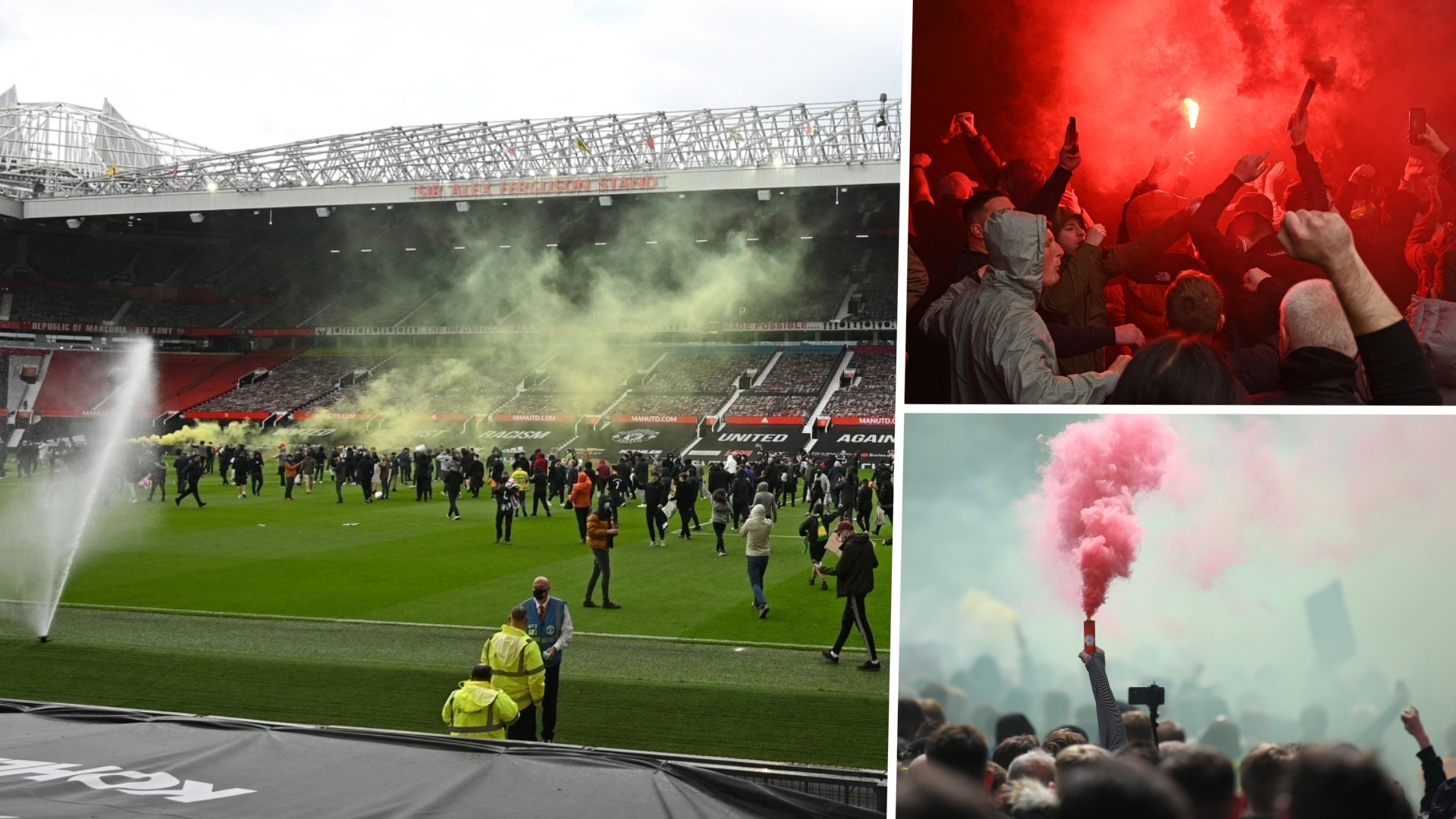 In pictures: Manchester United fan protest and Old Trafford pitch invasion forces Liverpool game postponement