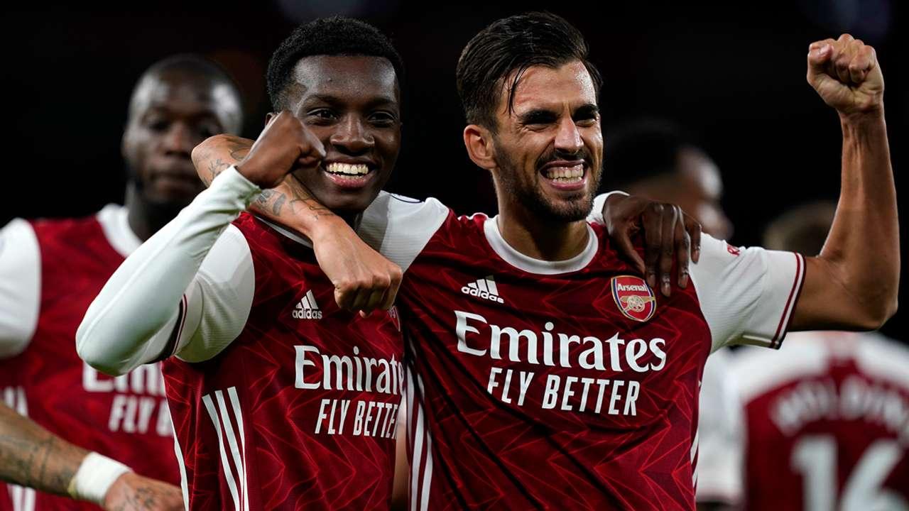 Eddie Nketiah Dani Ceballos Arsenal 2020