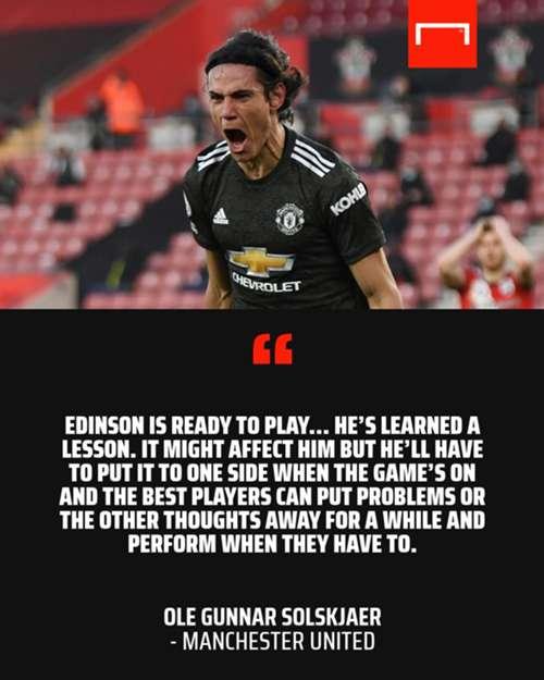 Edinson Cavani Ole Gunnar Solskjaer Manchester United GFX