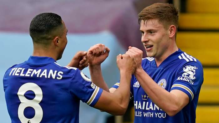 Youri Tielemans Harvey Barnes Leicester 2020-21