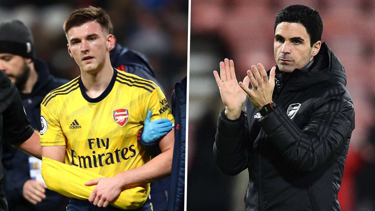 Kieran Tierney Mikel Arteta Arsenal 2019-20 GFX