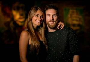 Antonela Roccuzzo y Lionel Messi en la previa de la boda 30062017