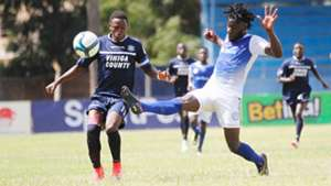 Amos Kigadi of Vihiga United v Faina Jacobs of Sofapaka.