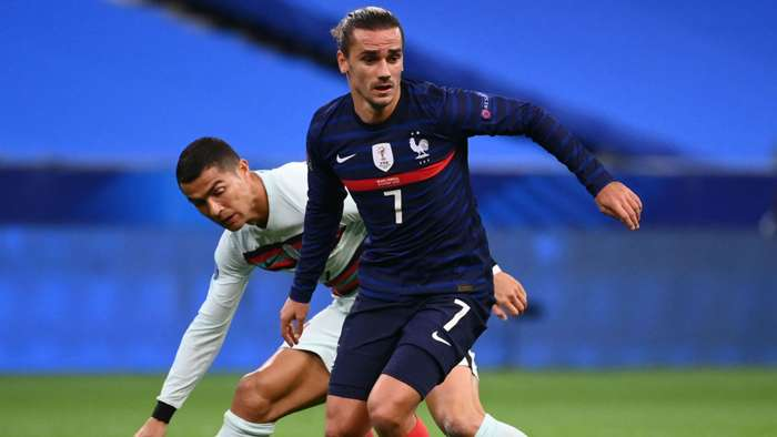Cristiano Ronaldo Antoine Griezmann France Portugal Nations League 11102020