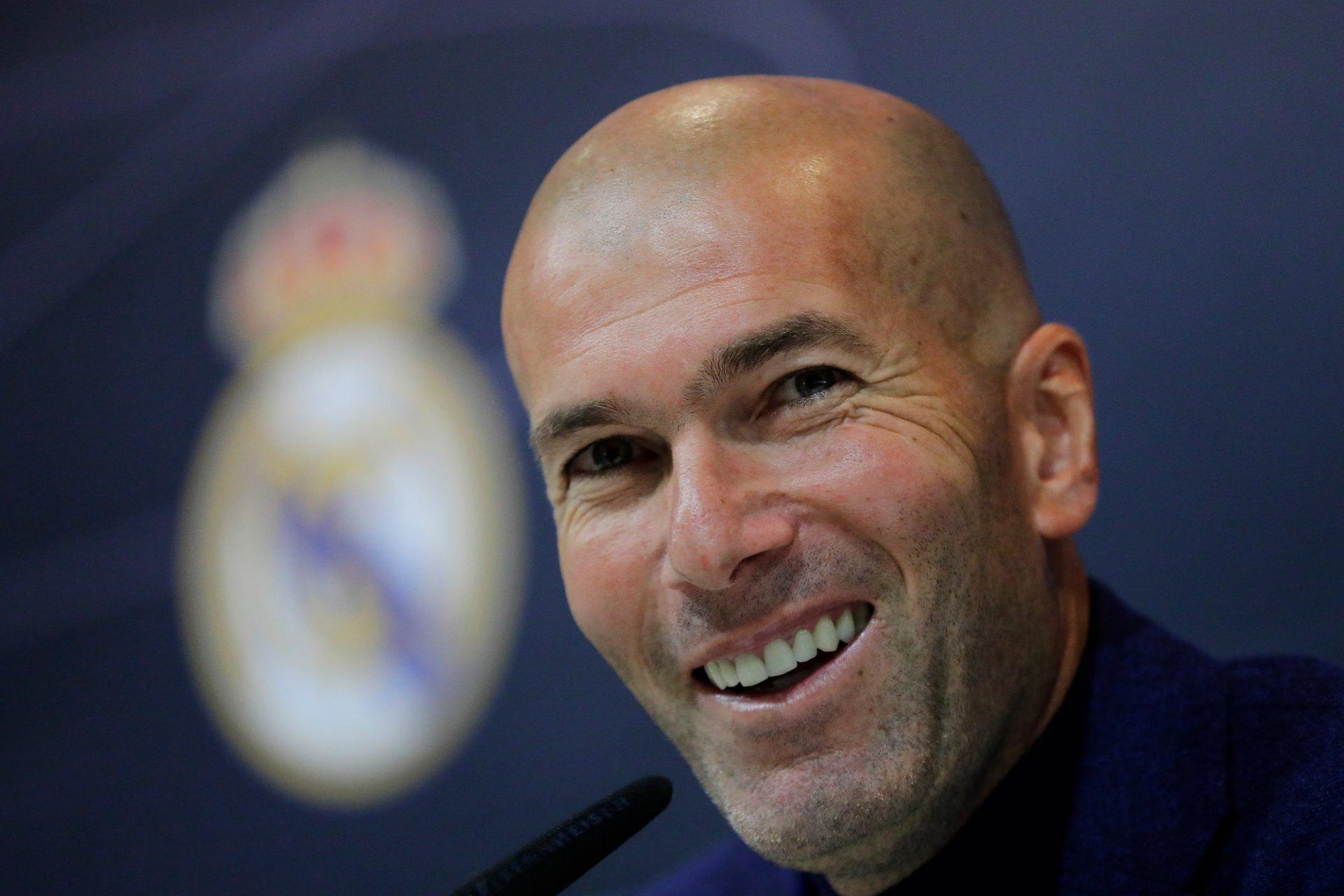 """Real Madrid, Zidane : """"Le Barça est bon, même sans Messi"""""""