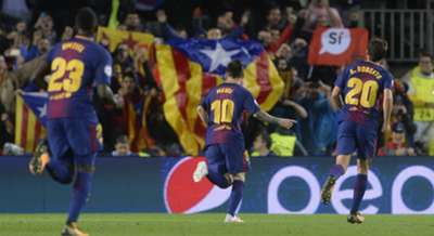 Lionel Messi Samuel Umtiti Sergi Roberto Barcelona