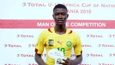 Steve Mvoue of Cameroon U-17